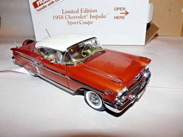 Danbury Mint Limited Edition 1958 Chevrolet Impala Sport Coupe MINT Unopened MIB