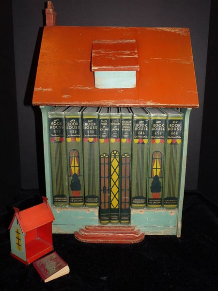 RARE My Book House Christmas Edition 9 Vols PLUS Metal Mini Salesman's Sample
