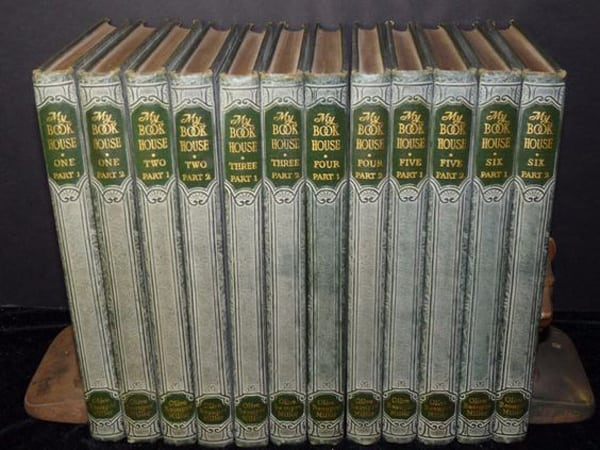 Rare My Book House Bookhouse for Children Green 12 Volume Olive Beaupre Miller