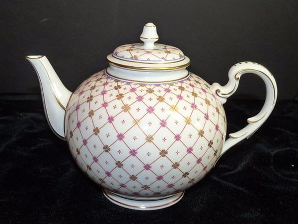 STUNNING Hand Painted RICHARD GINORI Pink Gold TEAPOT